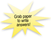 Grab paper to write answers